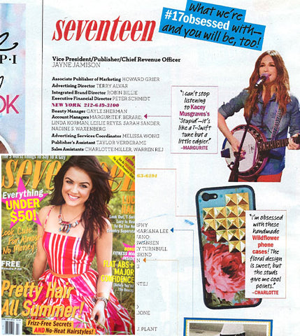 Seventeen Magazine x Wildflower cases