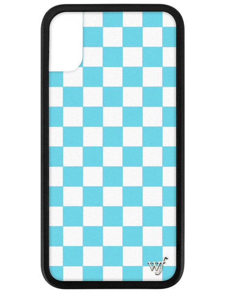 Blue Checkers I Phone X/Xs Case by Wildflower Cases