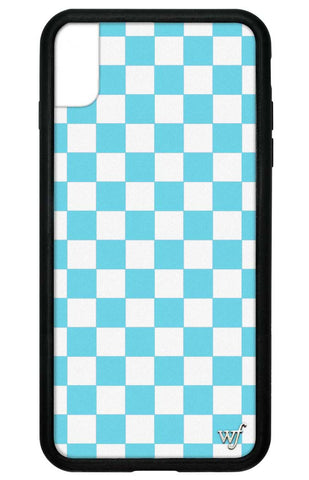 Checkers iPhone Xs Max Case | Blue
