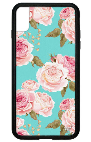 Blue Floral iPhone Xs Max Case