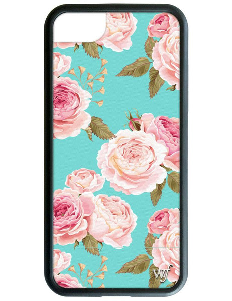 Blue Floral iPhone SE/6/7/8 Case
