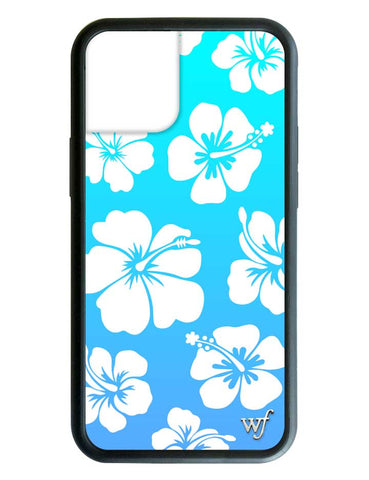 Blue Hibiscus iPhone 12 Case