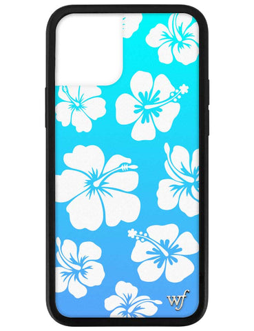 Blue Hibiscus iPhone 12 Pro Case