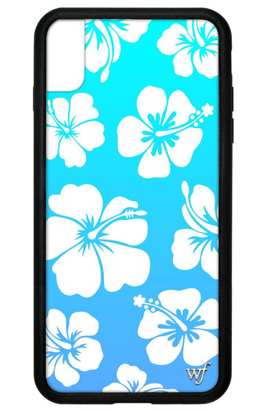 Blue Hibiscus iPhone Xs Max Case