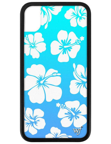 Blue Hibiscus iPhone Xr Case