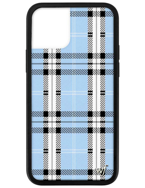 Blue Plaid iPhone 12 Pro Case