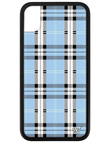 Blue Plaid iPhone Xr Case