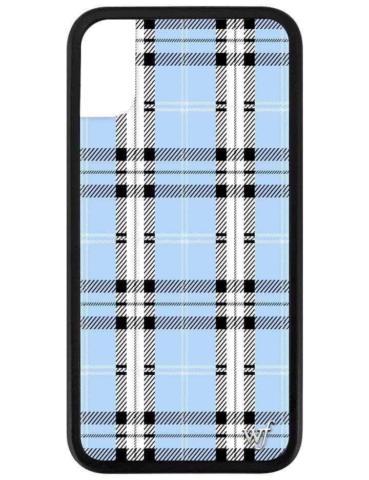 new style 0b878 e02aa Blue Plaid iPhone X/Xs Case