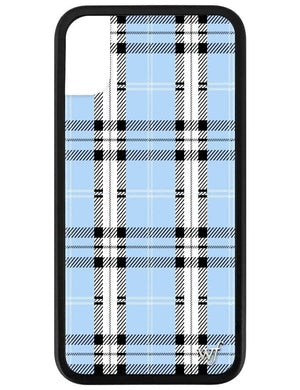 Plaid iPhone X/Xs Case | Blue