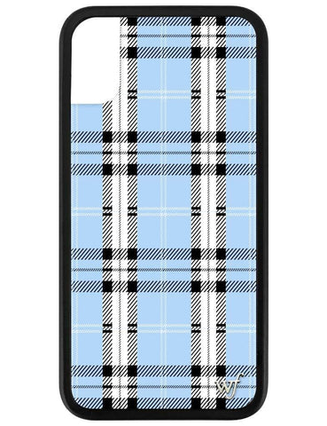 Blue Plaid iPhone X/Xs Case