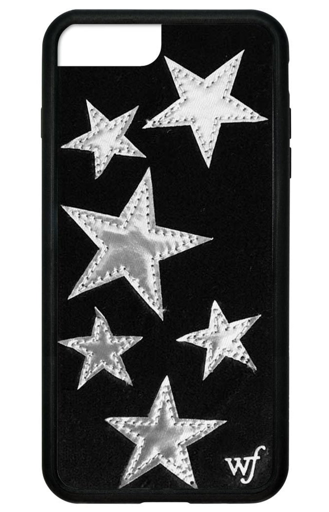 new concept 5105e 9b086 Black Velvet Silver Stars iPhone 6+/7+/8+ Plus Case