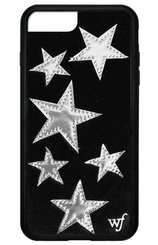 Black Velvet Silver Stars iPhone 6+/7+/8+ Plus Case