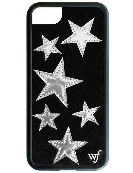 Black Velvet Silver Stars iPhone SE/6/7/8 Case