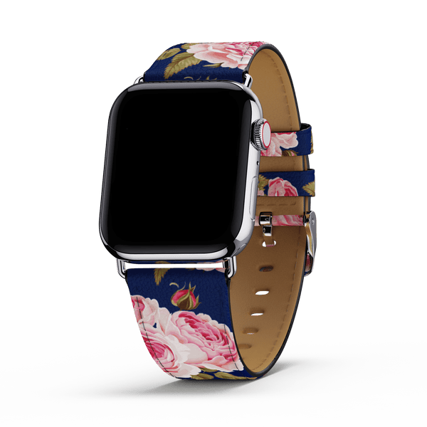 Navy Floral Apple Watch Band