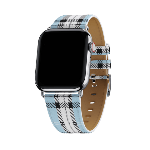 Blue Plaid Apple Watch Band