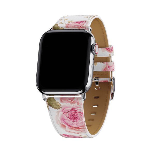 White Floral Apple Watch Band