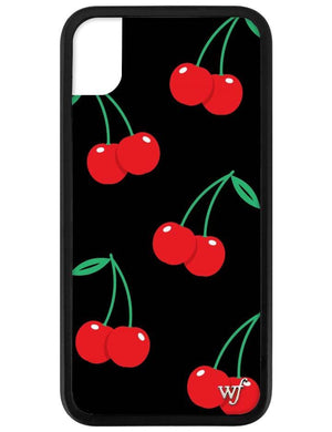 Cherry iPhone Xr Case | Black