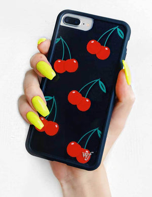 Cherry iPhone 6/7/8 Plus Case | Black