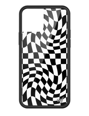 Crazy Checkers iPhone 12/12 Pro Case | Black