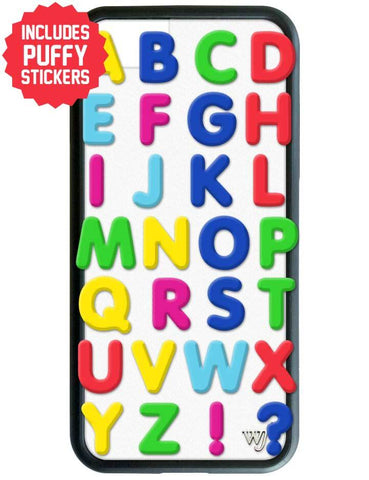 Alphabet Soup iPhone 6/7/8 Case Includes Stickers