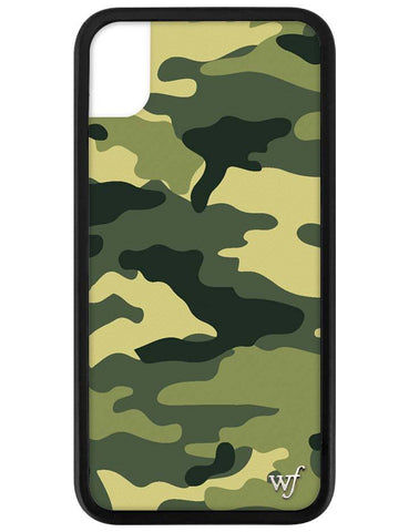Green Camo iPhone Xr Case