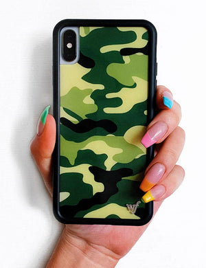 Camo iPhone Xs Max Case | Green