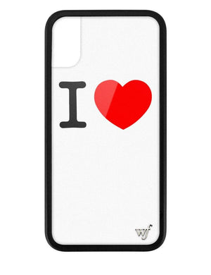 I Love iPhone Xs Max Case