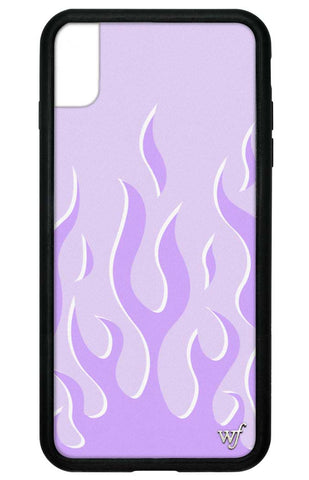 Lavender Flames iPhone Xs Max Case