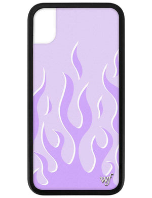 Lavender Flames iPhone Xr Case
