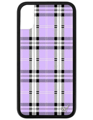 best sneakers 18630 65079 Lavender Plaid iPhone X/Xs Case