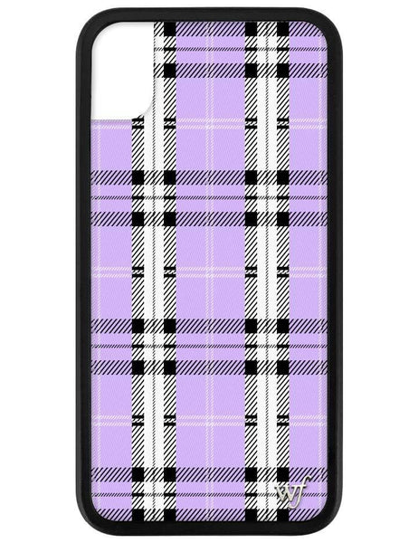 Lavender Plaid iPhone Xr Case