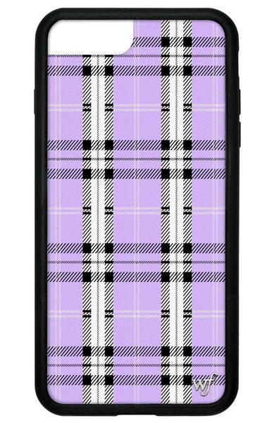 Lavender Plaid iPhone 6+/7+/8+ Plus Case
