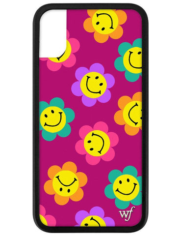 Smiley Flowers iPhone X/Xs Case
