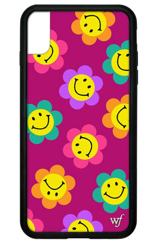 Smiley Flowers iPhone Xs Max Case