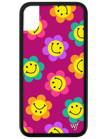 Smiley Flowers iPhone Xr Case