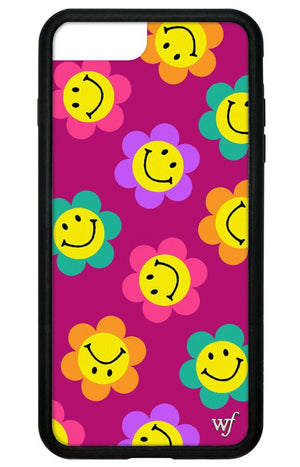 Smiley Flowers iPhone 6+/7+/8+ Plus Case