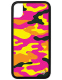 Neon Camo iPhone Xr Case