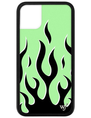 Neon Flames iPhone 11 Case