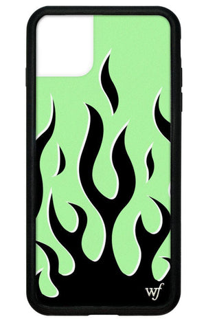 Neon Flames iPhone 11 Pro Max Case