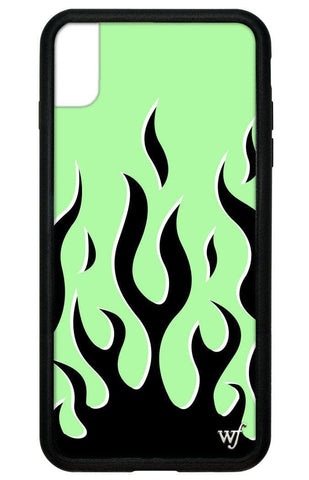 Neon Flames iPhone Xs Max Case