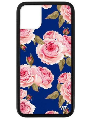 Navy Floral iPhone 11 Case