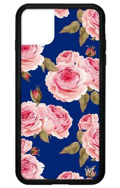 Navy Floral iPhone 11 Pro Max Case