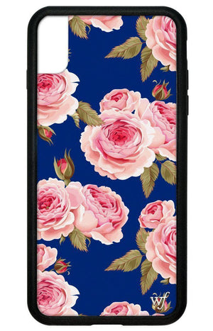 Navy Floral iPhone Xs Max Case