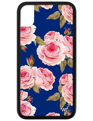 Navy Floral iPhone Xr Case