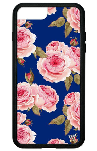Navy Floral iPhone 6+/7+/8+ Plus Case