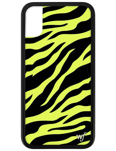 Neon Zebra iPhone X/Xs Case