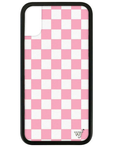 Pink Checkers iPhone X/Xs Case
