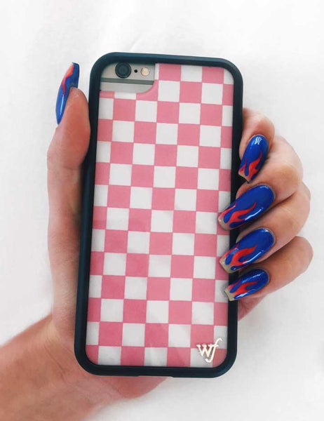 timeless design 471f3 a7f1e Pink Checkers iPhone 6+/7+/8+ Plus Case