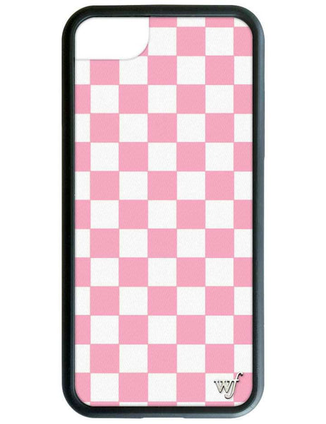 Wildflower Pink Checkers iPhone 7 Case