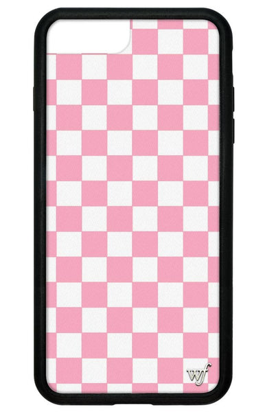 Wildflower Pink Checkers iPhone 7 Plus Case